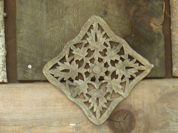 Carved Wooden Trivet