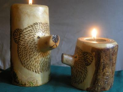 Carved Candle Holders