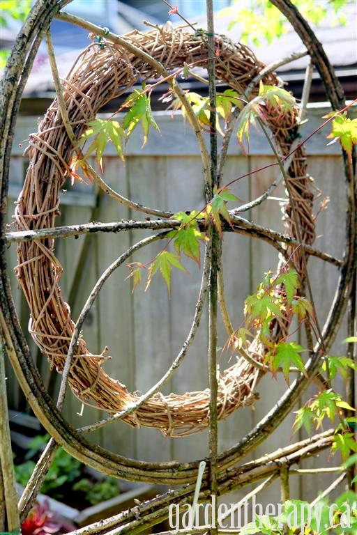 Find out How to Make a Grapevine Wreath at Garden Therapy...