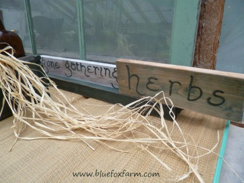 Gone Gathering Herbs - say it with a rustic garden sign...