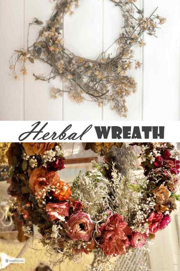 Herbal Wreath with dried herbs and flowers