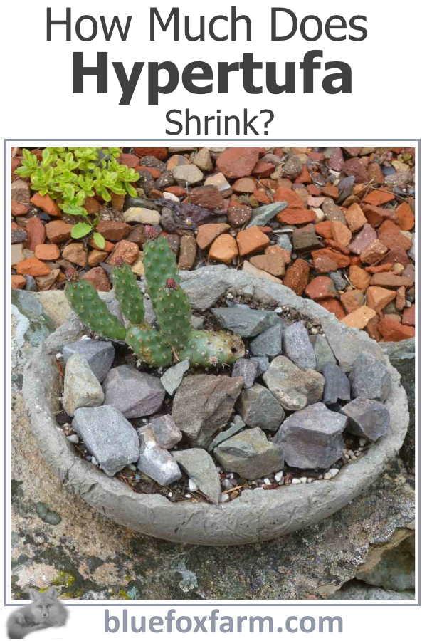 How Much Does Hypertufa Shrink?