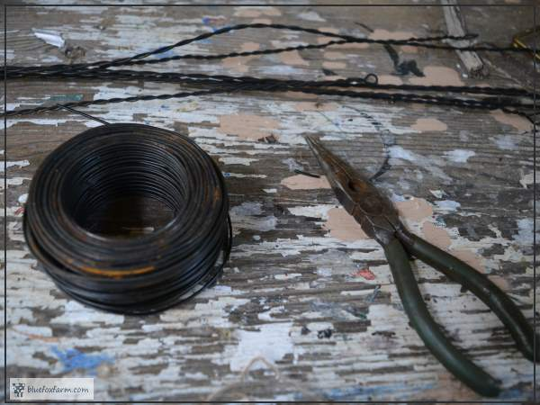 Some of the supplies you'll need for twisting wire
