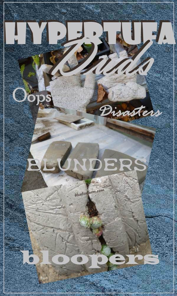 Hypertufa Duds - blunders, disasters and bloopers...
