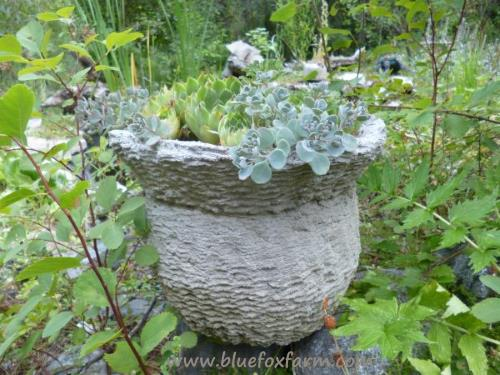 Just like the basket used for its mold, this basket hypertufa looks like its name