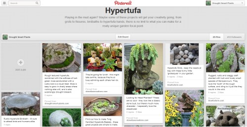 Follow the Hypertufa board on Pinterest