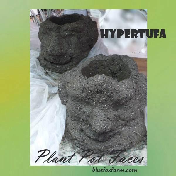 Hypertufa Plant Pot Faces