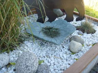 Rhubarb leaf casting in hypertufa