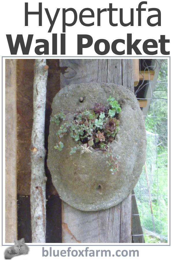 Hypertufa Wall Pocket