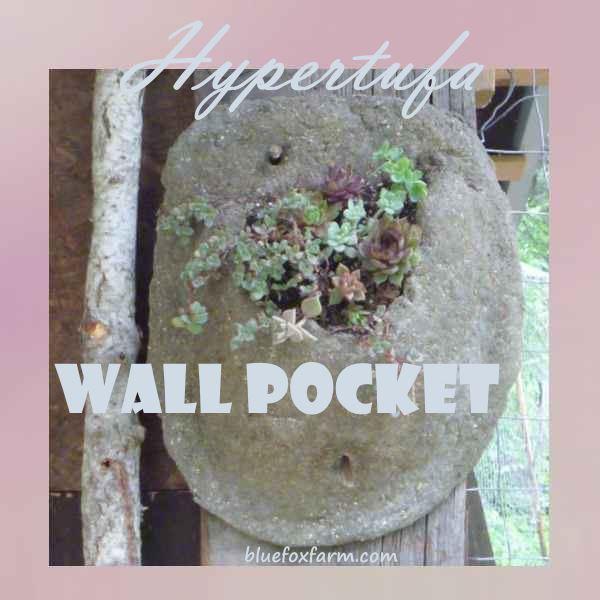 Hypertufa Wall Pocket