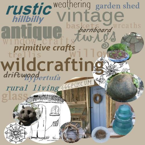 Rustic and Vintage; Primitive and Country; our favorite Garden Crafts
