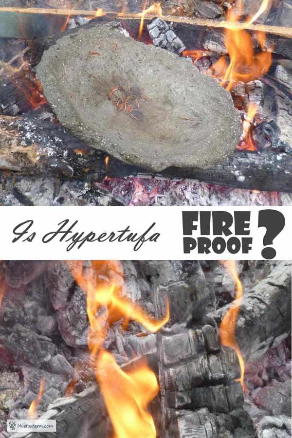 Is Hypertufa Fireproof?  Let's find out...