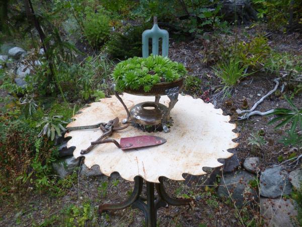 Rusty Saw Blade Table