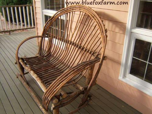Beautiful bent twig chair for your porch...