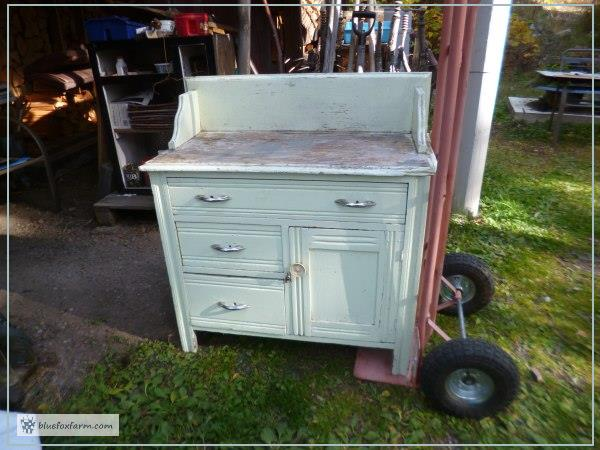 Scruffy and unloved vintage washstand