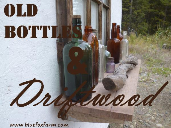 Old Bottles and Driftwood vignette