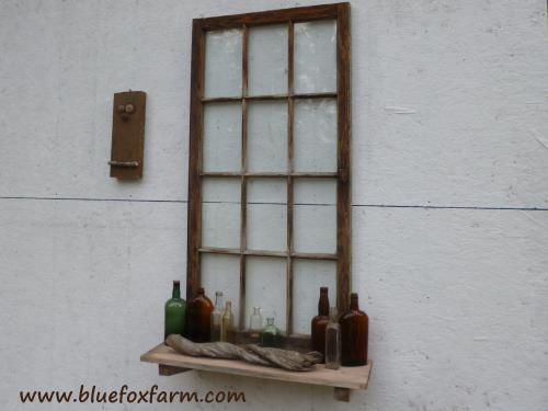 Vignettes like this are perfect for brightening up a blank shed wall...