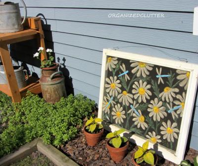 A great idea to use an old window screen...