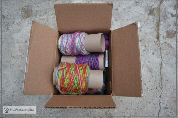 Care package of hand knitted socks