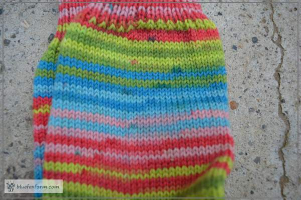 Pattern Created By The Dyed Yarn