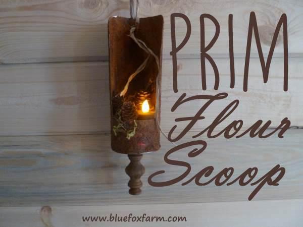 Prim Flour Scoop Lantern