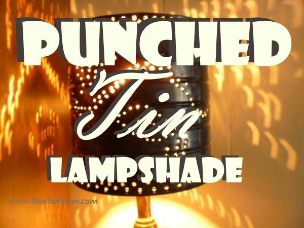 Punched Tin Lampshade