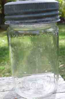 Antique Crown Glass Canning Jar