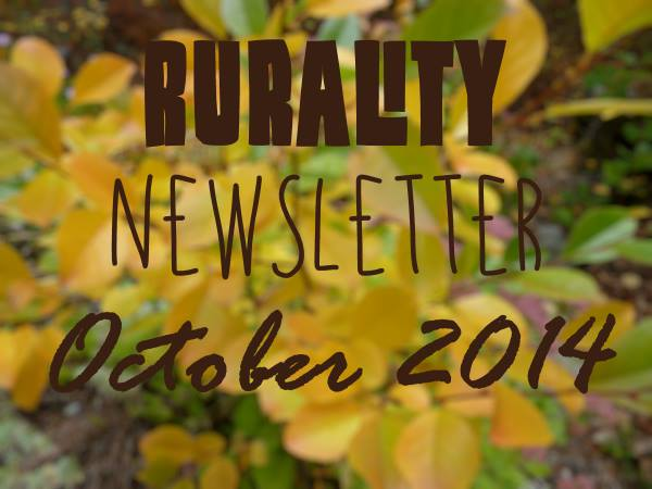 Rurality Issue #14 - rustic crafts and garden art in the Autumn of 2014