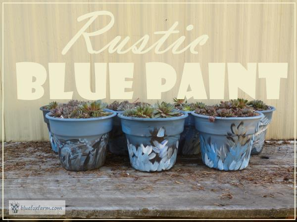Rustic Blue Paint