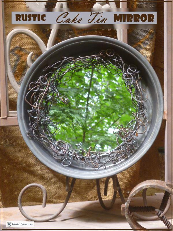 Rustic Cake Tin Mirror