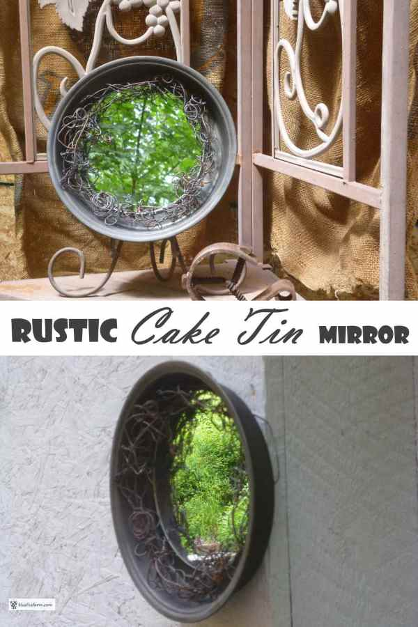 Rustic Cake Tin Mirror