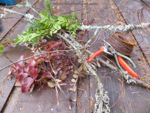 Supplies for a Rustic Garden Wreath...