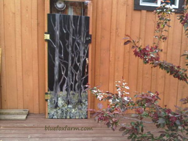 Black Painted Door