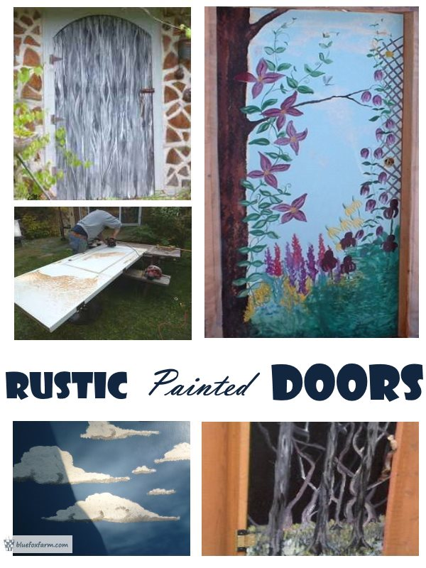 Rustic Painted Doors