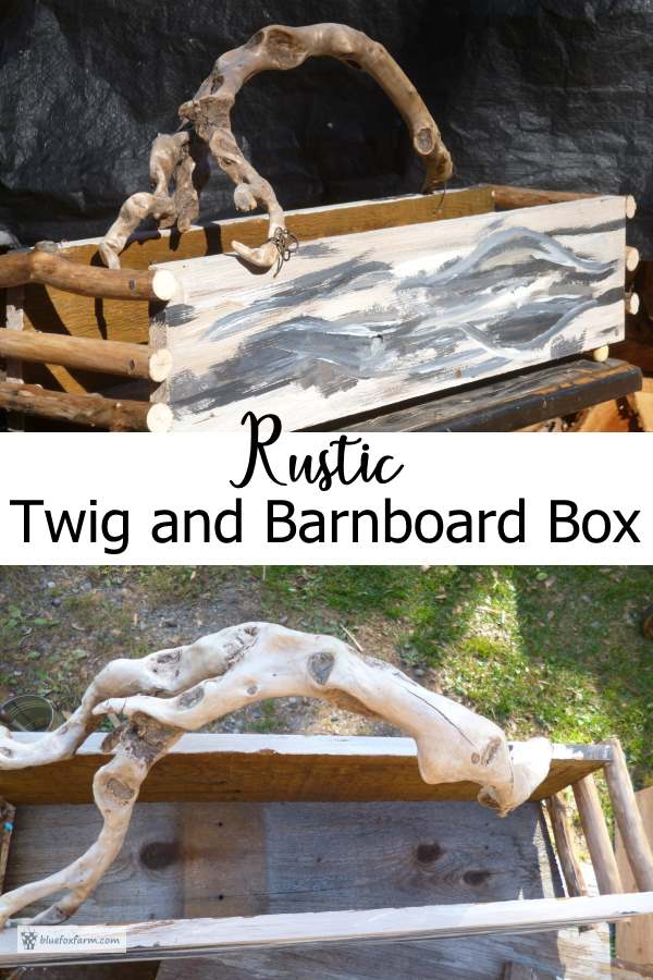 The finished Twig and Barnboard Box