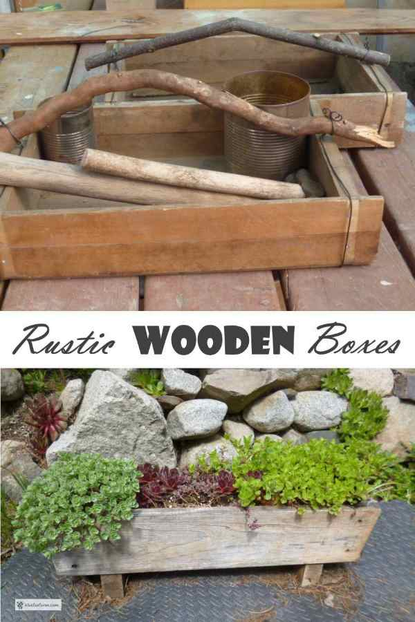 Rustic Wooden Boxes...