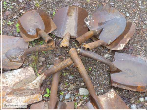Old worn out shovels get a new life here