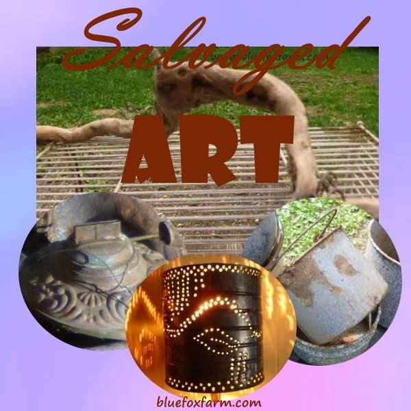 Salvaged Art - trash into treasure