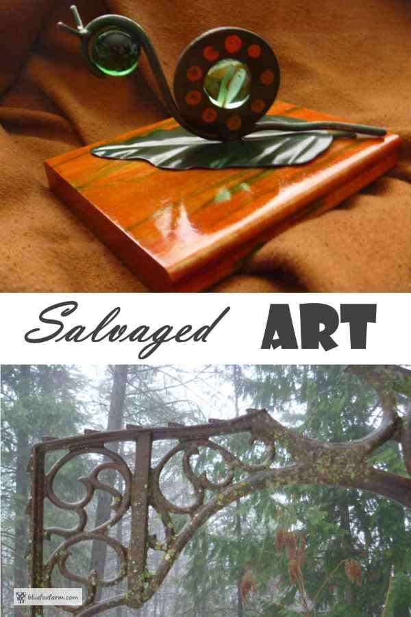 Salvaged Art - trash into treasure