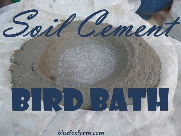 Soil Cement Bird Bath