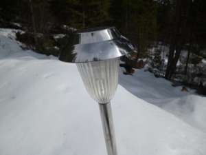 the old solar light still works, but it's hideous...
