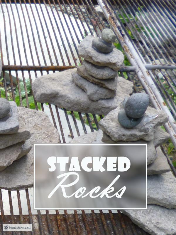 Stacked Rocks - a really rustic garden accent