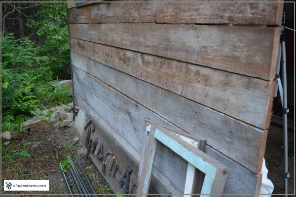 Weathering siding with steel wool, vinegar and white paint