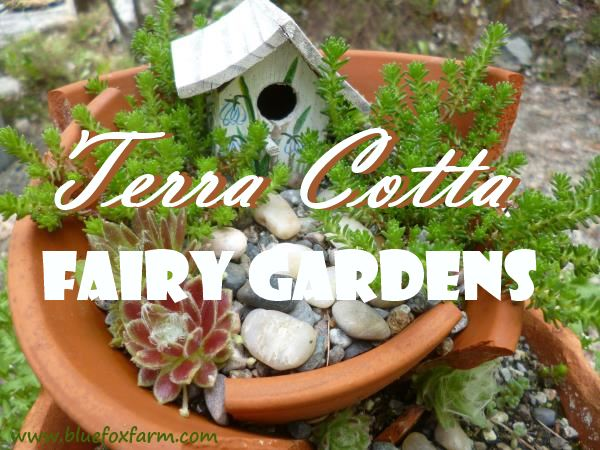 Terracotta Fairy Garden dont throw out your broken pots create