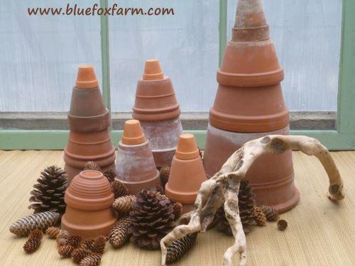 Terracotta Pots and Pinecones...