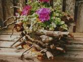 Log Cabin Basket
