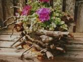 Log Cabin Basket