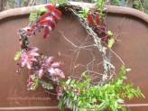 Rustic Garden Wreath - displayed on a Bed Frame Gate