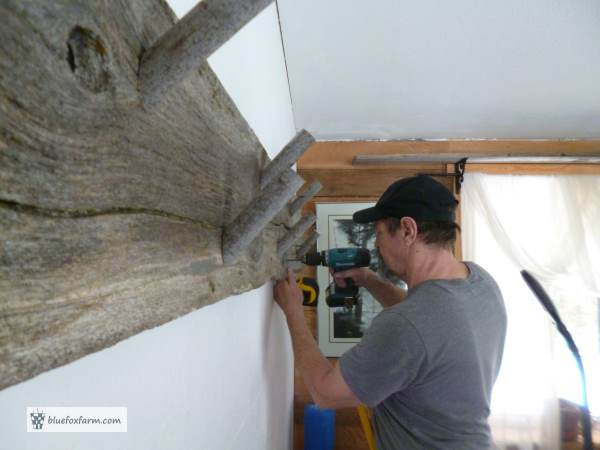 Installing the coat hook board