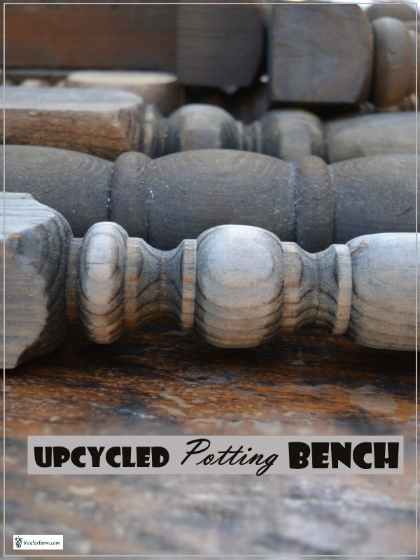 Upcycled Potting Bench - find a use for all your scraps